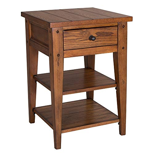 Liberty Furniture Industries Lake House Chair Side Table, 18' x 18' x 26', Medium Brown
