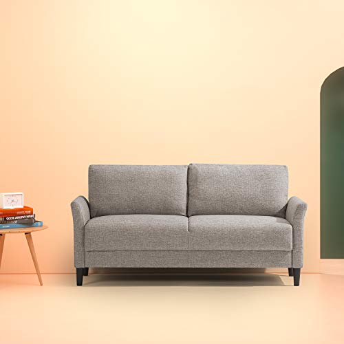 Zinus Classic Upholstered 71in Sofa/Living Room Couch, Soft Grey