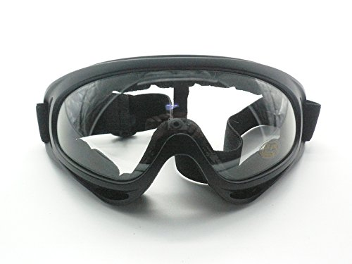 Oidon Airsoft / Paintball X400 Tactical Goggle Glasses - Wind Dust UV Protection (Transparent)