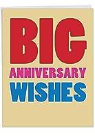 Big記念Wishes記念Joke Greeting Card 1 Jumbo Anniversary Card & Enve. (J2722ANG)