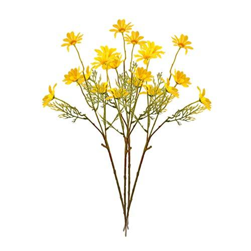 Garneck Ramo de Flores de Simulación de Ramo de Margaritas Ramo de Flores Realista Realista Artificial para Jarrón de Fiesta de Jardín de Boda de Jardín de Escritorio