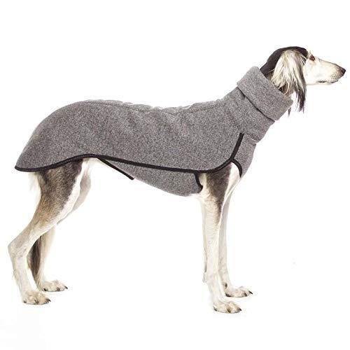 Collar mediano grande para perros grandes, gran danés, galgo, Pitbull, ropa para mascotas (color: gris claro, talla: XL) ggsm