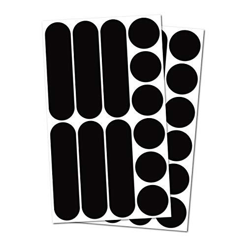 B REFLECTIVE Éco Multi, (Pacco da 2) Kit 12 Adesivi rifrangenti/Riflettenti, Sicurezza e visibilità di Notte, Adesivo Universale per Bicicletta/Passeggino/Casco/Moto/Motorino/Giocattoli, Nero