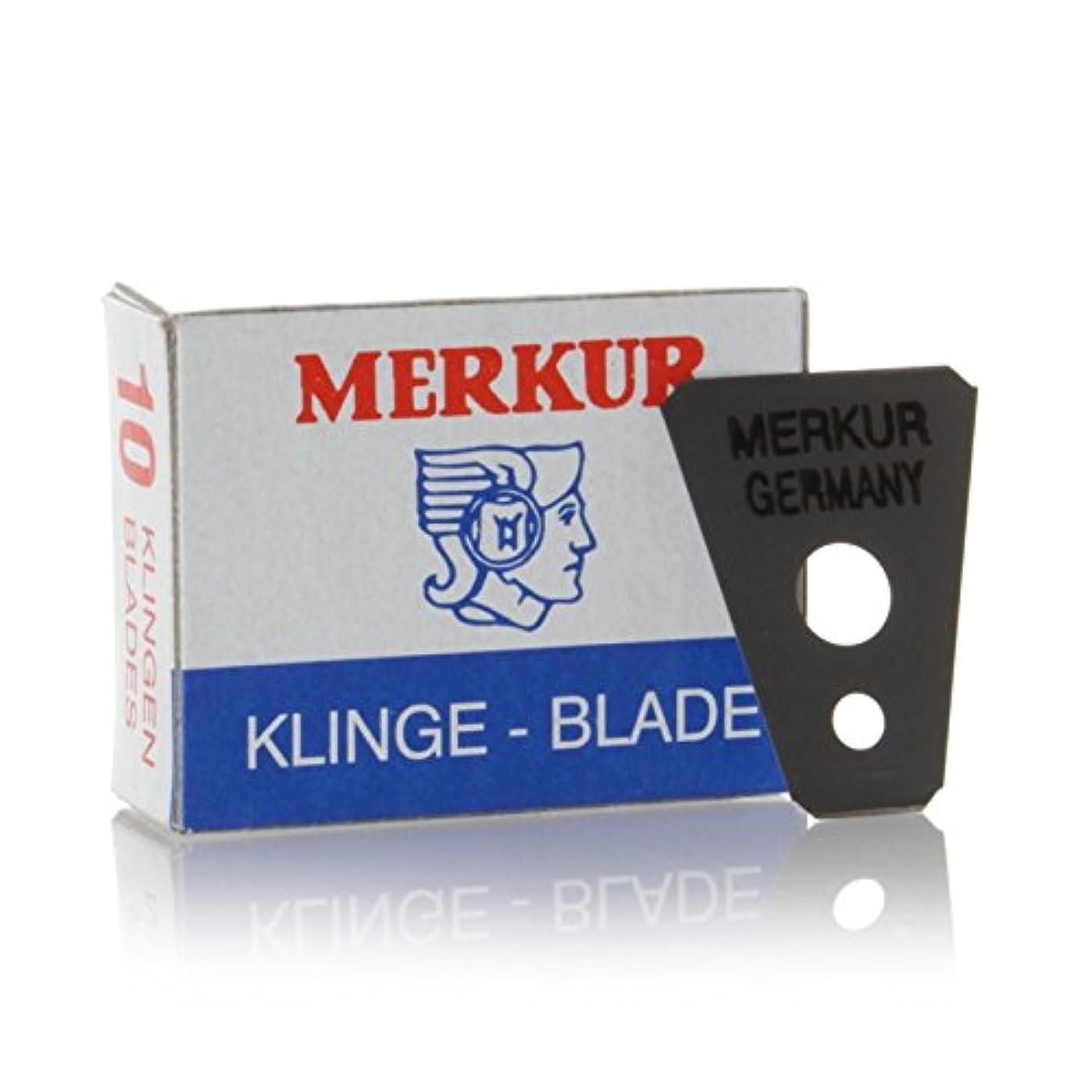 チェスをするケーキ毛細血管MERKUR Solingen - Razor blades for moustache shaver, 10 pieces, 90908100
