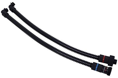Alphacool 12542 Eisbaer GPX Extension Set 90° (Schlauch und Anschlüsse) , Nylon, 0,32 m, schwarz