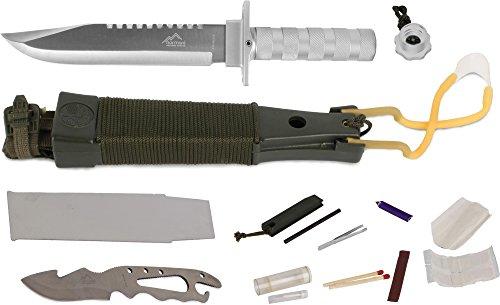 normani Surivalmesser Überlebensmesser Kampfmesser Survival Knife - 12 Teilig Farbe Schwarz