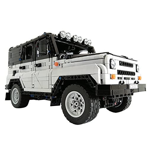 KEAYO Truck todoterreno 4 x 4, tecnología UAZ 3151 Off-Road Truck con mando a distancia y motores, bloques de construcción Custom MOC, bloques de sujeción, compatible con Lego Technic
