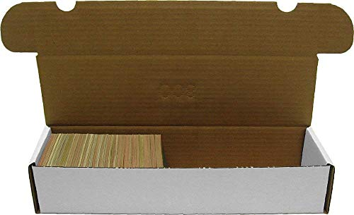 BCW 800-Count Storage Box for Standard 20pt Trading Cards, 200 lb. Test Strength, (20-Count )