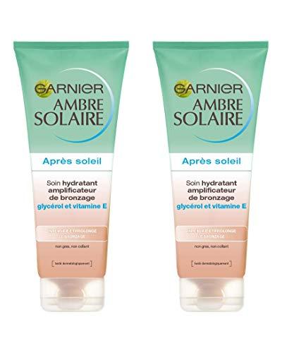 Garnier Ambre Solaire Après Soleil Soin Hydratant Amplificateur de Bronzage - Lot de 2
