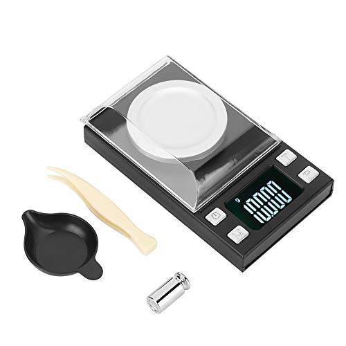 Balanza Electrónica Digital 0.001G Balanza Electrónica Digital Portátil Alta Precisión Mini Lcd Para Pesar Píldoras Oro Joyería(50G/0.001G)