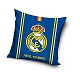 Real Madrid Cojín (con relleno) almohada funda de cojín FC Funda de almohada 40cm x 40cm (RM18_ 2047)