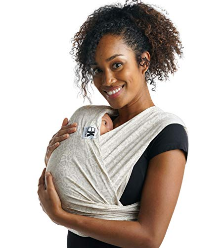 Baby K'tan Print Baby Wrap Carrier, Infant and Child Sling - Simple Pre-Wrapped Holder for Babywearing -No Tying or Rings- Carry Newborn up to 35 lbs, Savvy Snake, XS (W Dress 2-4 / M Jacket up to 36)