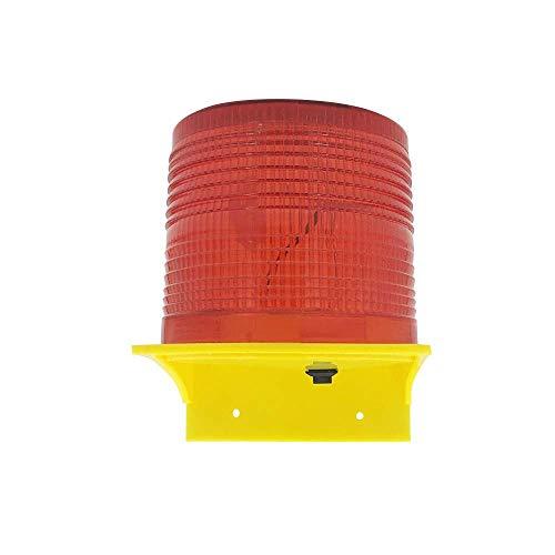 Zitainn Luces de Advertencia solares 8pcs Leds Luz roja Lámparas de Advertencia con energía Solar Lámpara de obstrucción/Luz de baliza/Luces de Advertencia de tráfico/Luz de Advertencia de grúa de