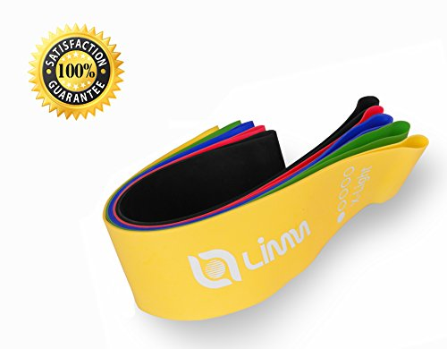 Limm Resistance Bands Exercise Loops - 12-inch Workout Flexbands for Physical Therapy, Rehab, Stretching, Home Fitness and More - Includes Bonus EBooks, Instruction Manual, Online Videos & Carry Bag