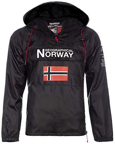 Geographical Norway Herren Windbreaker Outdoor Jacke Black XXL
