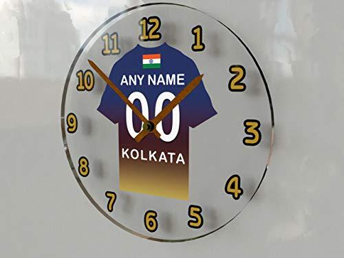 IPL Indien Cricket–Indischen PREMIER LEAGUE Cricket Jersey Wanduhren–Jeder Name, beliebige, jedes Team, kostenlose Personalisierung. KOLKATA KNIGHT RIDERS