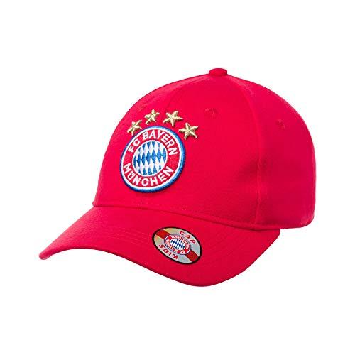 FC Bayern München Basecap Kinder rot - Logo - rotes Frontpanel Cap, Schildmütze, Kappe FCB