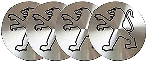 4 Piezas Tapas Centrales para Peugeot 106 107 206 207 306 307 506 507 108 208 308 508, 60mmCoche Llanta Rueda Cubre Embellecedor Insignia, Emblema Logo Accesorios