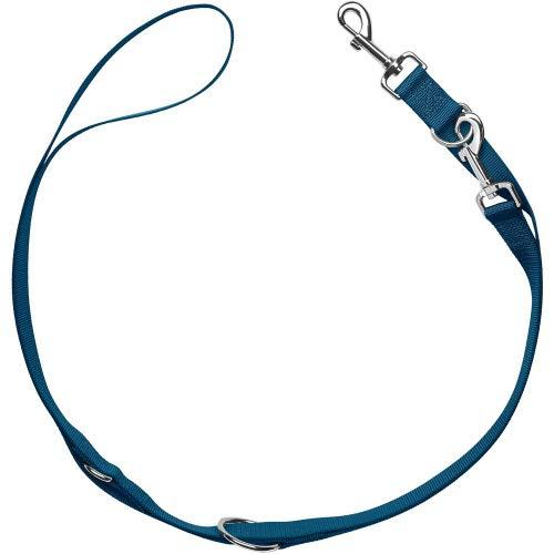 HUNTER London Verstellbare Hundeführleine, robust, geschmeidig und pflegeleicht Farbe dunkelblau, Größe 15/200