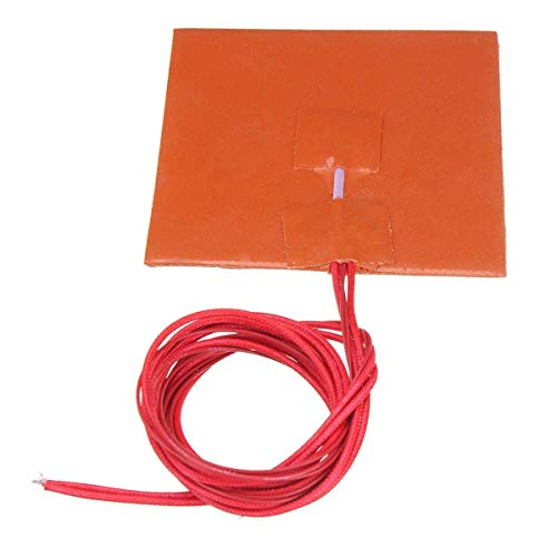 GzxLaY 3D Printer 12V 100 100mm 50W Silicone Heated Bed Heating Pad w/Thermistor for 3D Printer