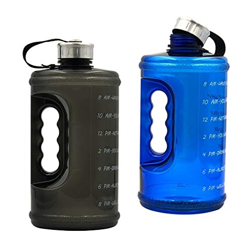 PETSOLA 2pcs Water Bottle Drinking Jug BPA Free Bike Hiking Sports Camping 73 Oz