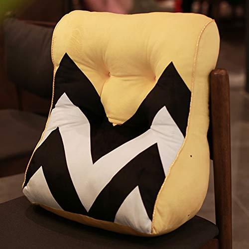 MHMT Lesen Und Tv Entspannen Pillow,Bed Wedge Rückenlehne Ruhekissen,Rückenstütze Rückenkissen Für Bett Und Sofa-B 45x38cm