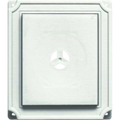 Builders Edge 130110001123 Scalloped Mounting Block 123, White