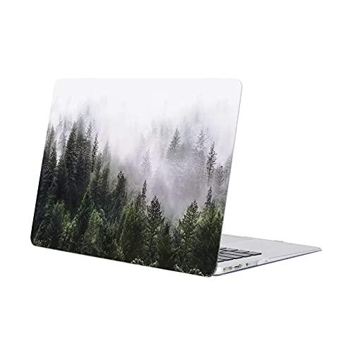 MOSISO Funda Dura Compatible con MacBook Air 13 Pulgadas (A1369 / A1466, Versión 2010-2017), Ultra Delgado Carcasa Rígida Protector de Patrón de Plástico Cubierta, Bosque Verde
