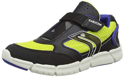 Geox Jungen J FLEXYPER Boy B Sneaker, Schwarz (Black/Lime C0802), 31 EU