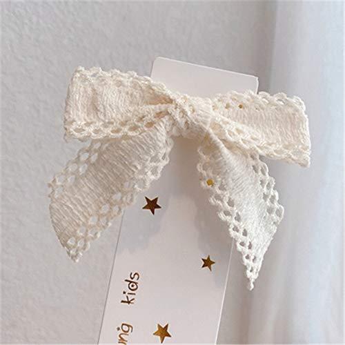 Tela bordada de encaje arco horquilla dulce horquilla cola de caballo clip superior headwear accesorios para el cabello para las mujeres