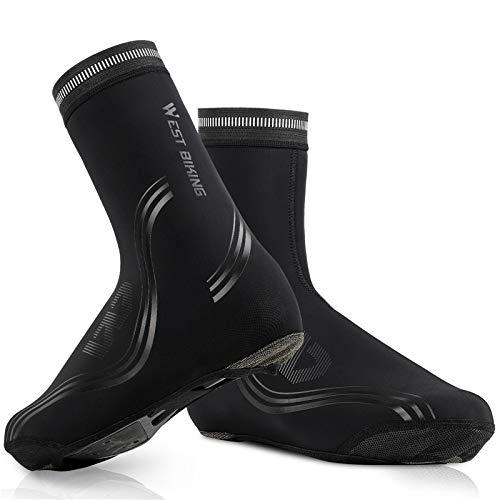YYIXING Cubrezapatillas de Ciclismo Impermeables, Cubrezapatos cálidos y de Terciopelo, Botines de Bicicleta MTB, para Ciclismo