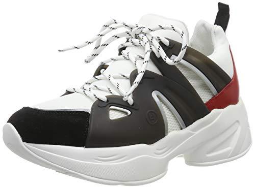 Liu Jo Shoes Jog 07-Sock Sneaker, Scarpe da Ginnastica Basse Donna, Multicolore (Black/White/Rouge S19c4), 38 EU