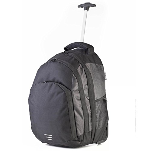 Shugon - Mochila maleta modelo Carrara II (Talla Única/Negro/Plateado)