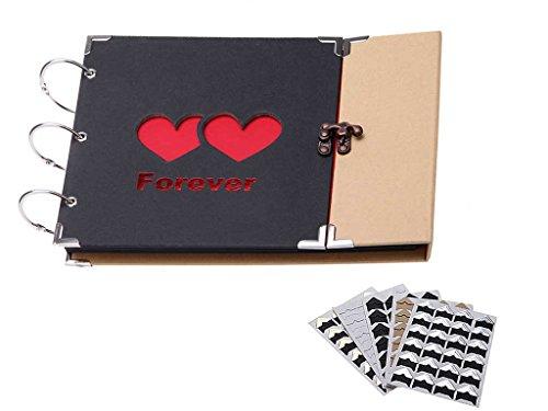 Andoer Photo Album Scrapbook 31 Sheets Handmade Photo Frame Book Hardboard...
