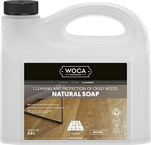 WOCA Natural Soap (Natural) 2.5 Litre / 2.5L