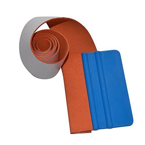 "Ehdis 40"" Car Squeegee Suede Felt Edge Roll Soft Felt Scraper 1 Roll 5X100cm for Car Vinyl Squeegee Wrapping Window Auto Application Tool (Not Included Scraper)"