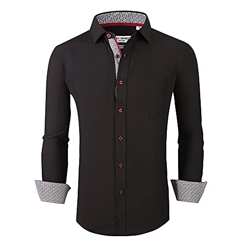 Alex Vando Mens Button Down Shirt Regular Fit Long Sleeve Casual Dress Shirts...