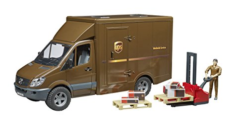 Bruder MB Sprinter Ups with Driver and Accessories Vehicles-Toys