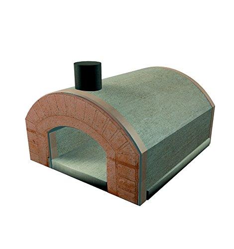 Lineavz Forno a Legna refrattario prefabbricato Esterno Famiglia 3 pizze 25 cm Capri