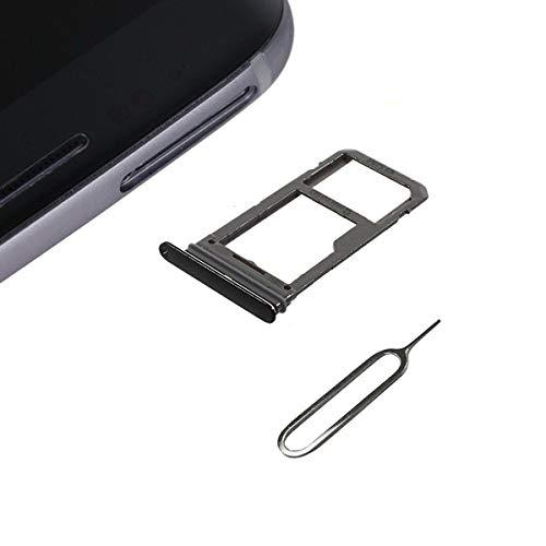 Cemobile Soporte de Ranura de la bandeja para Tarjeta SIM Reemplazo para Samsung Galaxy S8 G950 / S8 Plus G955 (Modelo Single SIM) con Anillo de Sellado Impermeable + Pin de expulsión abierta (Negro)