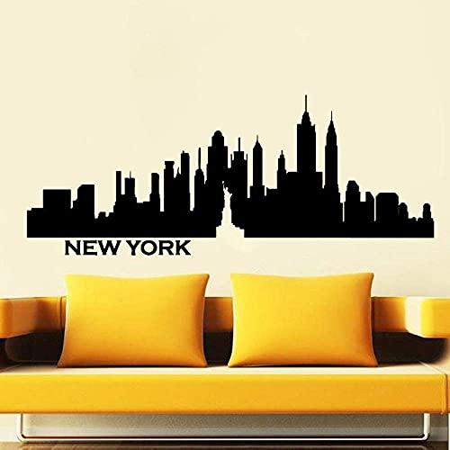 Calcomanía De Pared De La Ciudad De York Skyline Vinilo Pared Pegatina Decoración Oficina Sala De Estar Sofá Fondo Pared 84X34Cm