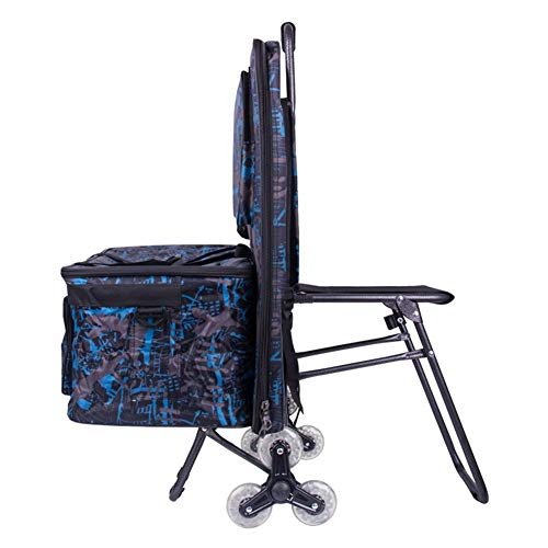 Staffelei Trolley Rolling Artist Trolley Tasche Trolley Malwerkzeug Warenkorb Artist Kombination Tragbare Folding Art Cart HUYP (Color : Blue)
