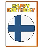 Finnland-Flagge – Geburtstagskarte – Fre& – Familie – Kollege – Mate – Boss – geliebte Person