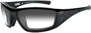 Harley-Davidson Men's Tank Sunglasses, Copper Lens/Glass Black Frame HDTAN08