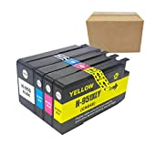 Compatible for HP 950 HP 951 Ink Cartridges Works with HP Officejet Pro 8100 / Pro 8600 Printer (Package Contents: 1 Black, 1 Cyan, 1 Magenta, 1 Yellow)