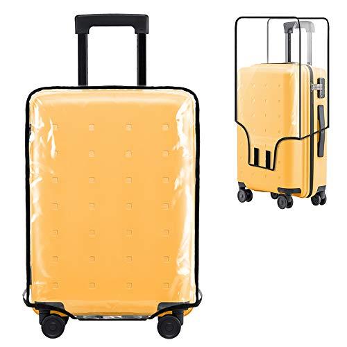 Uktunu Koffer-Abdeckungen 24 Zoll Reisekoffer-Schutzhülle Gepäck Cover Transparent Kofferschutzhülle Schutzhülle Wasserdicht Waschbar Kratzschutz Schwarze Grenze