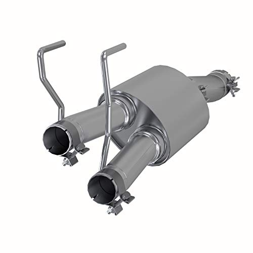 MBRP Exhaust S5141409 Muffler Replacement 3 in. Inlet/2.25 in. Oulet Dual Out T409 Stainless Steel Muffler Replacement