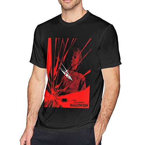IUBBKI Camiseta básica de Manga Corta para Hombre Michael Myers Men's Short Sleeve T-Shirt Cotton