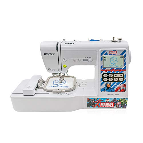 Brother LB5000M Marvel Computerized Sewing and Embroidery Machine, White