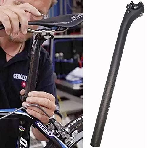 OUUUKL Tija de Sillín de Carbono para Bicicleta, Tija de Sillín de Bicicleta de Montaña Diámetro 25.4mm 27.2mm 30.8mm 31.6 mm para Bicicleta Plegable BMX, Poste de Sillín de Fibra de Carbono